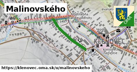 ilustrácia k Malinovského, Klenovec - 251m