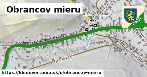 ilustrácia k Obrancov mieru, Klenovec - 0,93km