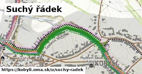 ilustrácia k Suchý řádek, Kobylí - 454m