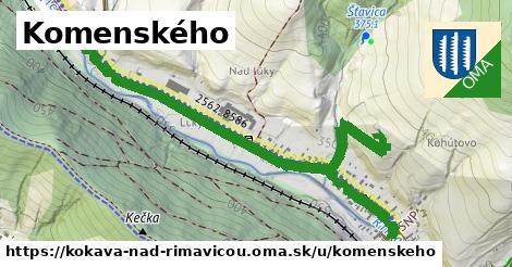 ilustrácia k Komenského, Kokava nad Rimavicou - 2,1km