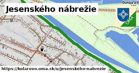 ilustrácia k Jesenského nábrežie, Kolárovo - 1,80km