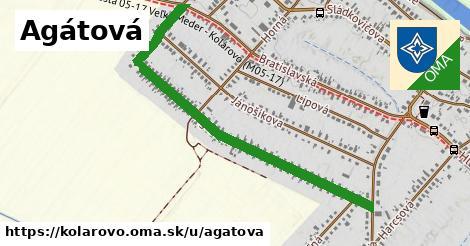 ilustrácia k Agátová, Kolárovo - 1,14km