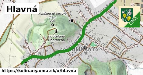ilustrácia k Hlavná, Kolíňany - 1,30km