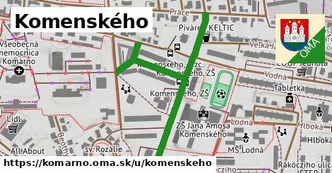 ilustračný obrázok k Komenského, Komárno