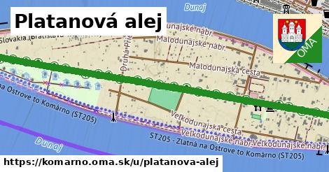 ilustrácia k Platanová alej, Komárno - 1,88km