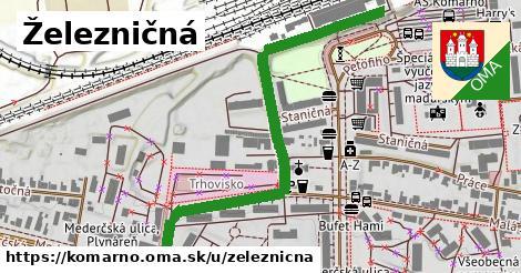 ilustrácia k Železničná, Komárno - 669m