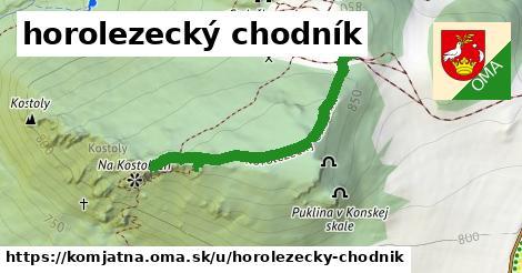 ilustračný obrázok k horolezecký chodník, Komjatná