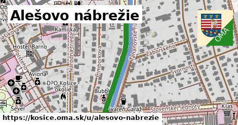 ilustračný obrázok k Alešovo nábrežie, Košice