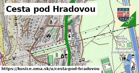 ilustrácia k Cesta pod Hradovou, Košice - 1,29km