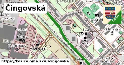ilustračný obrázok k Čingovská, Košice