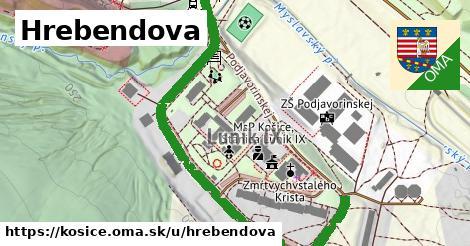 ilustračný obrázok k Hrebendova, Košice