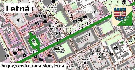 ilustrácia k Letná, Košice - 1,00km