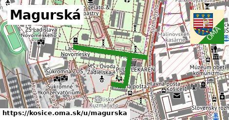 ilustrácia k Magurská, Košice - 344m