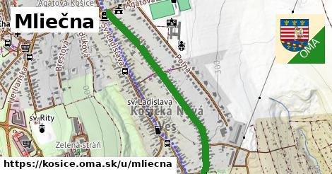 ilustračný obrázok k Mliečna, Košice
