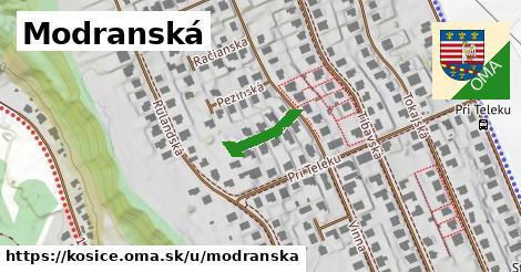 ilustrácia k Modranská, Košice - 131m