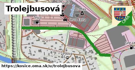 ilustrácia k Trolejbusová, Košice - 551m