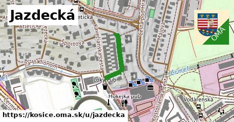 ilustrácia k Jazdecká, Košice - 180m