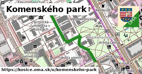 Komenského park, Košice