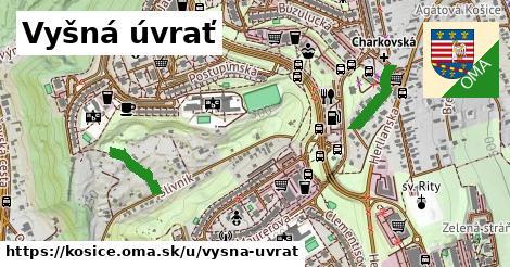 ilustrácia k Vyšná úvrať, Košice - 1,17km