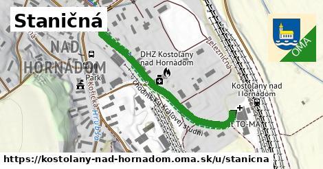ilustrácia k Staničná, Kostoľany nad Hornádom - 216m