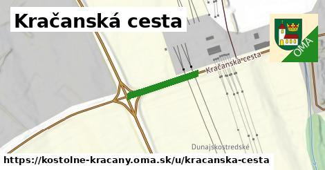ilustrácia k Kračanská cesta, Kostolné Kračany - 166m