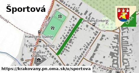 ilustrácia k Športová, Krakovany, okres PN - 233m