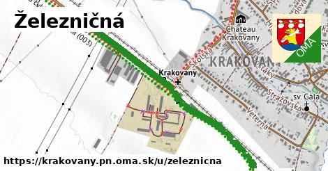ilustrácia k Železničná, Krakovany, okres PN - 1,10km