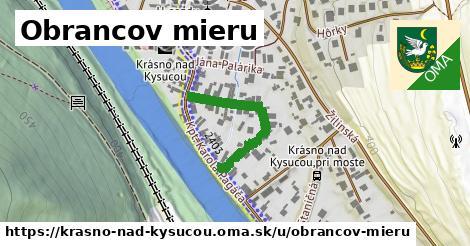 ilustrácia k Obrancov mieru, Krásno nad Kysucou - 250m