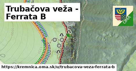 ilustrácia k Trubačova veža - Ferrata B, Kremnica - 19m