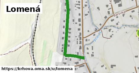 ilustrácia k Lomená, Krhová - 409m