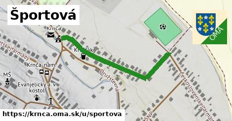 ilustrácia k Športová, Krnča - 411m
