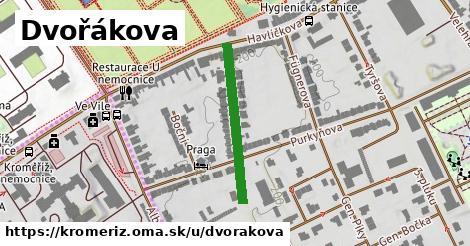 ilustrácia k Dvořákova, Kroměříž - 250m