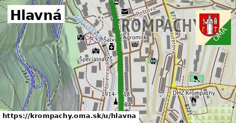 ilustrácia k Hlavná, Krompachy - 485m