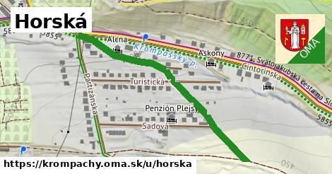 ilustrácia k Horská, Krompachy - 482m
