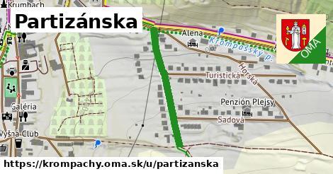 ilustrácia k Partizánska, Krompachy - 270m
