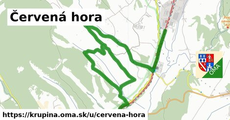 ilustrácia k Červená hora, Krupina - 9,3km