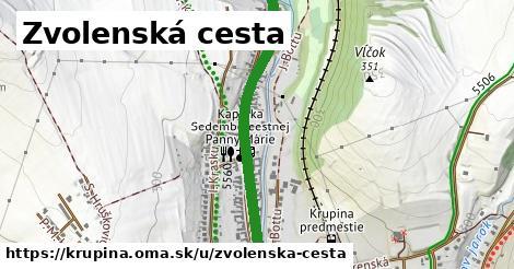 ilustrácia k Zvolenská cesta, Krupina - 1,29km