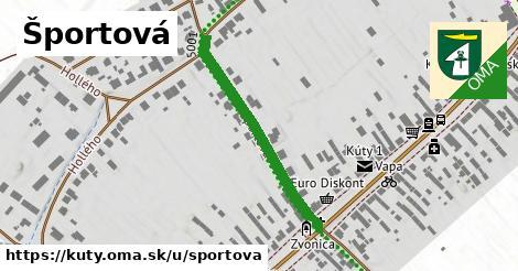 ilustračný obrázok k Športová, Kúty