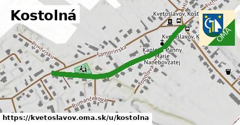ilustrácia k Kostolná, Kvetoslavov - 457m