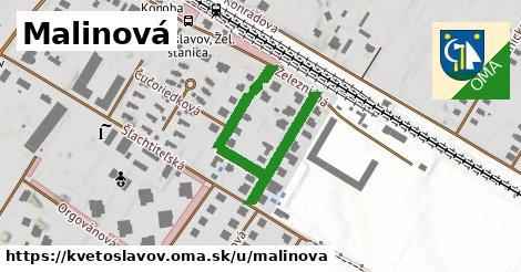 ilustrácia k Malinová, Kvetoslavov - 364m