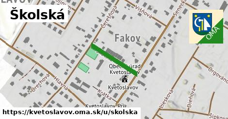 ilustrácia k Školská, Kvetoslavov - 179m