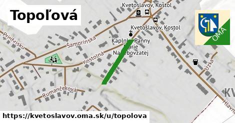 ilustrácia k Topoľová, Kvetoslavov - 216m
