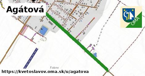 ilustrácia k Agátová, Kvetoslavov - 0,99km