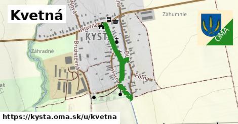 ilustrácia k Kvetná, Kysta - 596m