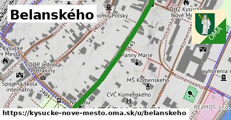 ilustračný obrázok k Belanského, Kysucké Nové Mesto