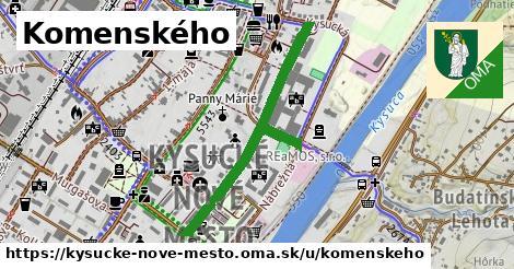 ilustračný obrázok k Komenského, Kysucké Nové Mesto