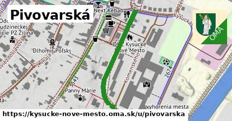 ilustrácia k Pivovarská, Kysucké Nové Mesto - 217m
