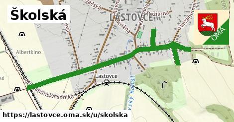 ilustrácia k Školská, Lastovce - 0,74km