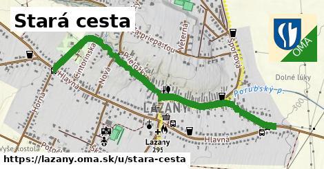 ilustrácia k Stará cesta, Lazany - 1,23km