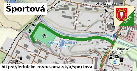 ilustrácia k Športová, Lednické Rovne - 443m